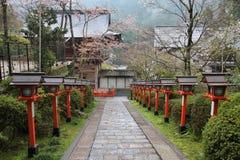 Kurama, Kyoto. Kurama Temple stairs in Kyoto, Japan. Buddhist place of worship Stock Photography