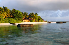 Kuramathi at 2 km (1 mi) long Stock Photography