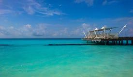 Kuramathi, isola delle Maldive fotografia stock
