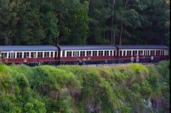 Kuranda盘旋火车在Queenland澳大利亚 库存图片