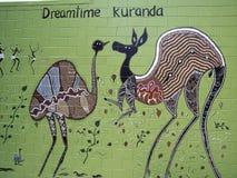 Kuranda Dreamtime壁画 免版税库存照片