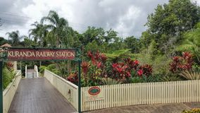 Kuranda Railway Station Queensland Australia. Entrance to Kuranda Railway Station Queensland Australia royalty free stock image