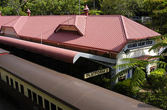 Kuranda Railway Train Station, Travel in Australia. Kuranda Railway Station in Australia, outside of Cairns. Cairns is a popular travel destination for those royalty free stock images