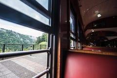Kuranda Scenic Railway Interior of Cars. Views from the Kuranda Scenic Railway, as it climbs the hill to Kuranda. Near Cairns, Australia stock photos