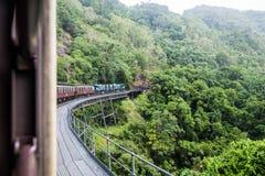 Kuranda scenisk järnväg royaltyfria foton