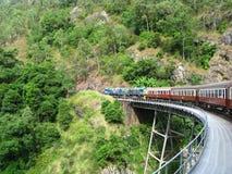 Kuranda scenisk järnväg Arkivfoto