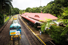 Kuranda Train Station. The iconic Kuranda train station in Kuranda, Queensland, Australia stock photos