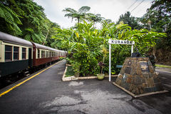 Kuranda Train Station. The iconic Kuranda train station in Kuranda, Queensland, Australia stock photography