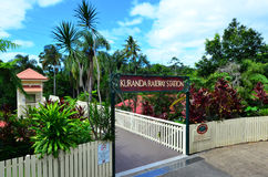 Kuranda Train Station in Queenland Australia Royalty Free Stock Photo