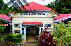 Kuranda Train Station in Queenland Australia. Kuranda Train Station of Kuranda Scenic Railway in the tropical north of Queensland Australia stock image