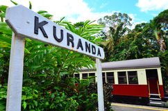 Kuranda Train Station in Queenland Australia. Kuranda Train Station of Kuranda Scenic Railway in the tropical north of Queensland Australia stock photography