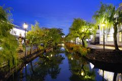 Kurashiki, Japan Canal Stock Image