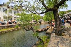Kurashiki, Japan- May 11, 2017 : river embankment Royalty Free Stock Image