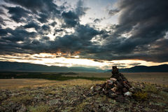 Kuray steppe Russia Royalty Free Stock Photo