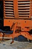 Kurbel eines alten Traktors stockfoto