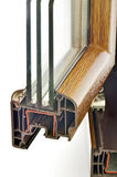 Kurbelgehäuse-Belüftung Fensterprofil Stockfotografie
