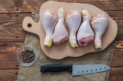 Kurczaków cieki Zdjęcia Stock