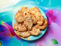 Kurczaków cutlets na talerzu zdjęcie royalty free