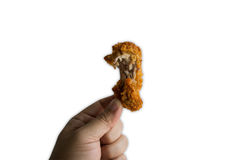 Kurczaków drumsticks pikantność piec smażącego przekąski gorącego zielarskiego pojęcie Obrazy Stock