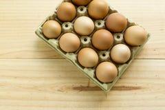 Kurczaków jajka w jajecznej filiżance Zdjęcia Stock