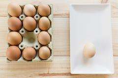 Kurczaków jajka w jajecznej filiżance Obraz Stock