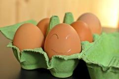 Kurczaków jajka w zielenieją otwartego formwork obraz stock