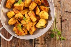 Kurczaków kolendery i curry zdjęcia stock