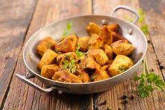 Kurczaków kolendery i curry obrazy royalty free