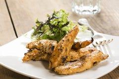 Kurczaków piec na grillu paski Zdjęcie Stock