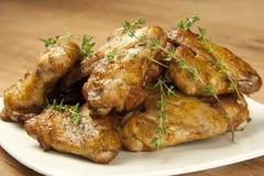 Kurczaków piec na grillu skrzydła Obraz Royalty Free