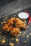 Kurczaków skrzydła w breadcrumbs Zdjęcie Stock