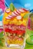 kurczaków warzywa kolorowi sałatkowi Zdjęcie Stock