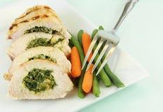 kurczaków warzywa piec na grillu Zdjęcia Stock