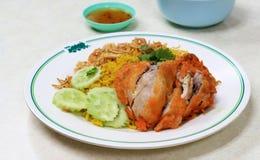 Kurczak Biryani z zielonym chutney zdjęcia stock