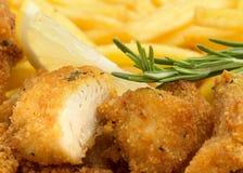 kurczak bryłka z rozmarynami Obrazy Stock
