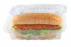 Kurczak chlebowej mąki warzywo tak jak hot dog trochę Fotografia Royalty Free