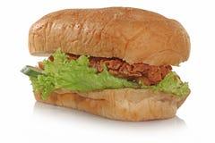 Kurczak chlebowej mąki warzywo tak jak hot dog trochę Fotografia Stock