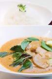 kurczak curry czerwonym styl thai Zdjęcie Stock