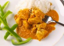 kurczak curry orzeszka thai Obrazy Royalty Free