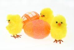 kurczak dekorująca jaj trzy zabawka Fotografia Royalty Free