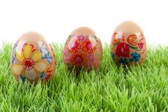 kurczak dekorująca jajek trawa Zdjęcie Stock