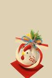 Kurczak figurka nowy rok Obraz Royalty Free