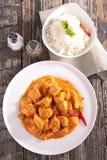 Kurczak gotujący z curry'ego kumberlandem obraz royalty free