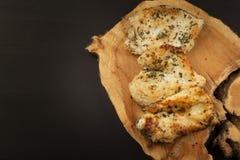 kurczak grillowany stek Żywienioniowy jedzenie dla atlet Zdrowej diety posiłki pieczony kurczak Stek przygotowywający dla grilla Obraz Stock