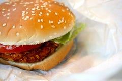 kurczak hamburgera Zdjęcia Royalty Free