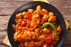 Kurczak Jhalfrazi - indyjska kuchnia z pieprzem i ziele zakończeniem Obrazy Royalty Free