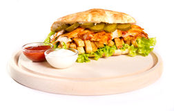 Kurczak kanapka zdjęcia stock