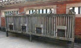 Kurczak klatki podwórko w dziedzictwo chińczyka dworze Fotografia Stock