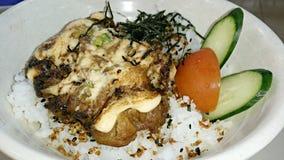 Kurczak Mentai Rice Fotografia Royalty Free