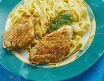 Kurczak Piccata z makaronem Obraz Stock